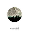 Munich Map Skyline Posters por PaperFinch