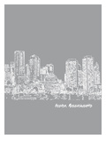 Skyline Boston 2 Affiches par Brooke Witt