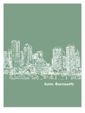 Skyline Boston 6 Affiches par Brooke Witt