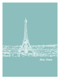 Skyline Paris 5 Posters par Brooke Witt
