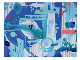 Abstract Marble Print by Deb McNaughton