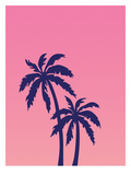 Palm Tree on Pink Giclee Print by Ashlee Rae