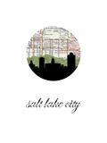 Salt Lake City Map Skyline Kunst av PaperFinch