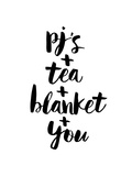 PJs Tea Blanket You Lámina por Brett Wilson
