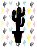 Cactus on Cactus Prints by Ashlee Rae