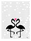 Flamingo Love Posters by Ashlee Rae