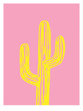 Cactus on Pink Poster by Ashlee Rae