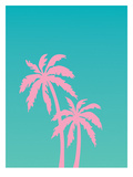 Pink Palm Tree Posters by Ashlee Rae