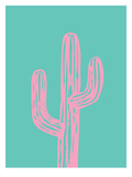 Pink Cactus Poster by Ashlee Rae