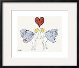 I Love You So, c. 1958 (angel) Framed Giclee Print by Andy Warhol