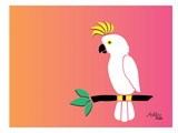 Cockatoo on Sunset Prints by Ashlee Rae