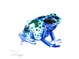 Blue Frog Prints by Suren Nersisyan