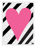 Pink Heart Prints by Ashlee Rae