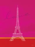 Love Paris - Pink and Red Stampe di Dominique Vari