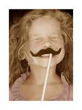 Moustache Girl Arte por Betsy Cameron
