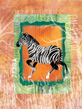 Safari Adventure Jungle Zebra Prints by Bee Sturgis