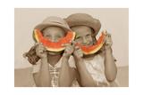 Watermelon Smiles Pôsters por Betsy Cameron