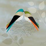 Birds Life - Love Nest Affiches par Dominique Vari