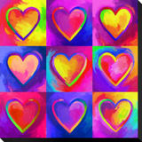 Pop Art Heart 2 Stretched Canvas Print by Howie Green