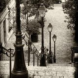 Paris Focus - Stairs of Montmartre Reproduction photographique par Philippe Hugonnard