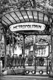 Paris Focus - Abbesses Metro Fotografisk tryk af Philippe Hugonnard