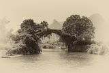 China 10MKm2 Collection - Dragon Bridge on the Yulong river Metal Print by Philippe Hugonnard