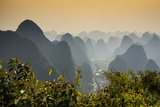 China 10MKm2 Collection - Karst Mountains at sunset - Yangshuo Metal Print by Philippe Hugonnard