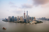 China 10MKm2 Collection - Shanghai Skyline with Oriental Pearl Tower Metal Print by Philippe Hugonnard