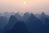 China 10MKm2 Collection - Karst Mountains at Pastel Sunset - Yangshuo Metal Print by Philippe Hugonnard
