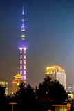China 10MKm2 Collection - Oriental Pearl Tower at Night - Shanghai Metal Print by Philippe Hugonnard