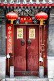 China 10MKm2 Collection - Red Door Fotografie-Druck von Philippe Hugonnard