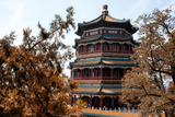 China 10MKm2 Collection - Summer Palace in Autumn Metal Print by Philippe Hugonnard