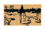 Silhouette for Ombres Chinoisses from Lepopee, 1898 Giclée-tryk af Caran D'Ache