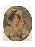 Princess Amelia of Brunswick and Her Daughter Princess Charlotte, 1919 Giclee Print by George Hayter