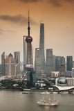 China 10MKm2 Collection - Shanghai Skyline with Oriental Pearl Tower Fotografisk tryk af Philippe Hugonnard