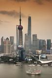 China 10MKm2 Collection - Shanghai Skyline with Oriental Pearl Tower Lámina fotográfica por Philippe Hugonnard