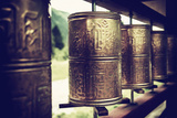 China 10MKm2 Collection - Prayer Wheels Metal Print by Philippe Hugonnard