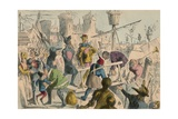 Embarkation of King Henry the Fifth at Southampton. A.D. 1415, 1850 Giclee Print by John Leech