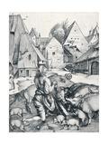 The Prodigal Son, 1495 Giclée-tryk af Albrecht Dürer