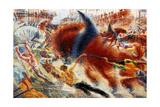 The City Rises, 1911 Impressão giclée por Umberto Boccioni