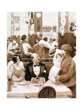 Restaurant, 1873-1942 Giclee Print by Albert Guillaume