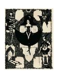 Columbine, C 1900-1930, (1925) Gicléetryck av Harry Clarke