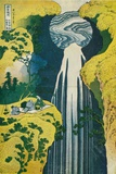 The Waterfall of Amida Behind the Kiso Road, C1832. (1925) Giclee-trykk av Katsushika Hokusai
