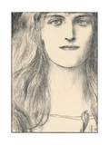 Une Tete De Face, 1898 Giclee Print by Fernand Khnopff