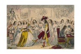 Evening Party - Time of Charles Ii, 1850 Giclee Print by John Leech