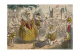 Queen Elizabeth and Sir Walter Raleigh, 1850 Giclee Print by John Leech