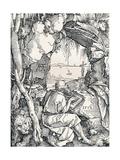 St Jerome in a Cave, 1512 Reproduction procédé giclée par Albrecht Dürer