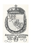The Coat of Arms of Ferdinand I, King of Hungary and Bohemia, 1527 Giclée-tryk af Albrecht Dürer