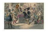 Take Away That Bauble: Cromwell Dissolving the Long Parliament, 1850 Giclée-tryk af John Leech