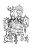 The Coat of Arms of Florian Waldauf, 1500 Giclée-tryk af Albrecht Dürer